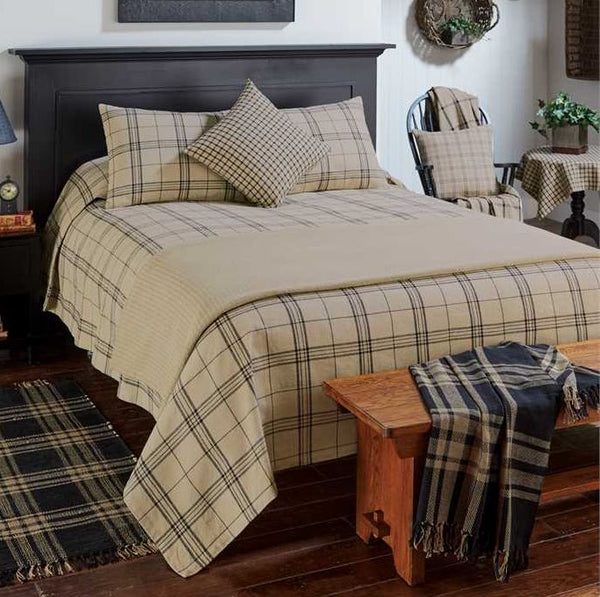 Fieldstone Plaid Black Bedding