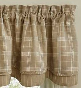 Fieldstone Plaid Cream Window Treatments