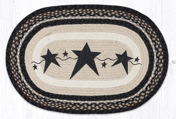 Primitive Stars Black Braided Jute Rug Collection