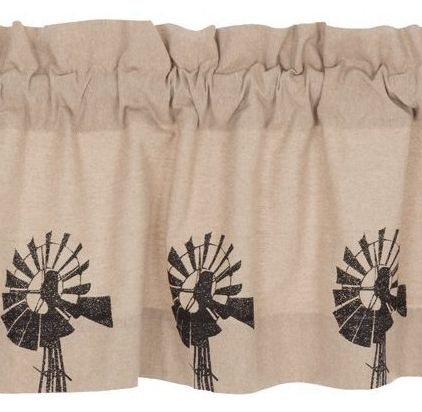 Sawyer Mill Charcoal Windmill Window Treatments