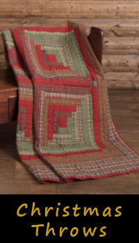 Christmas Throws Woven Quilted