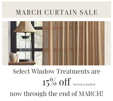 March Curtain Sale