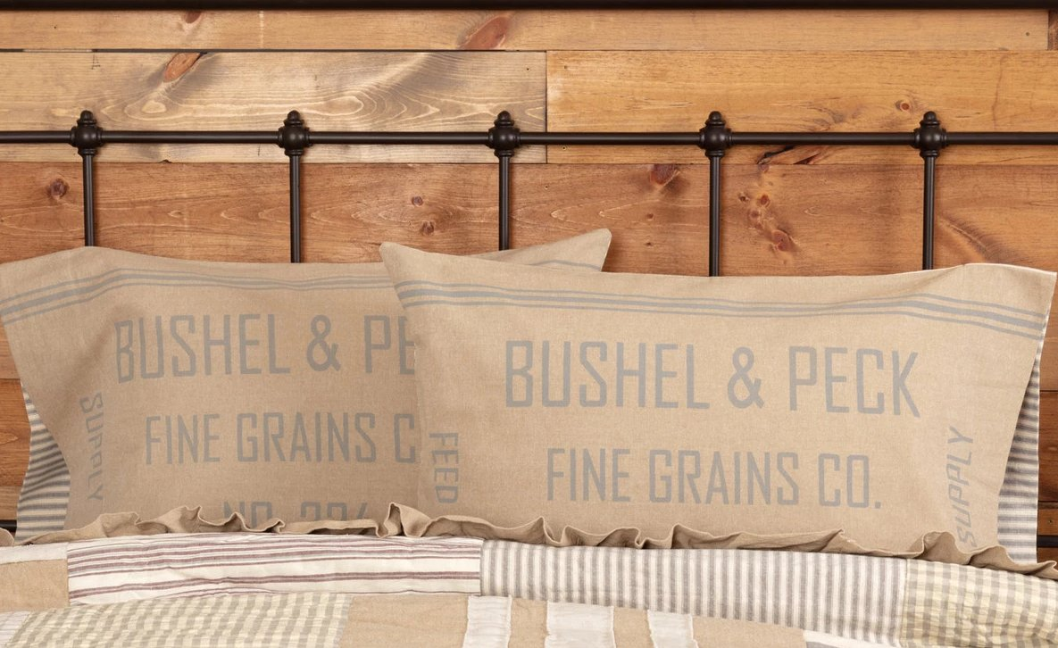 Grace Feed Sack Standard Pillow Case Set Of 2 21x30 Allysons Place