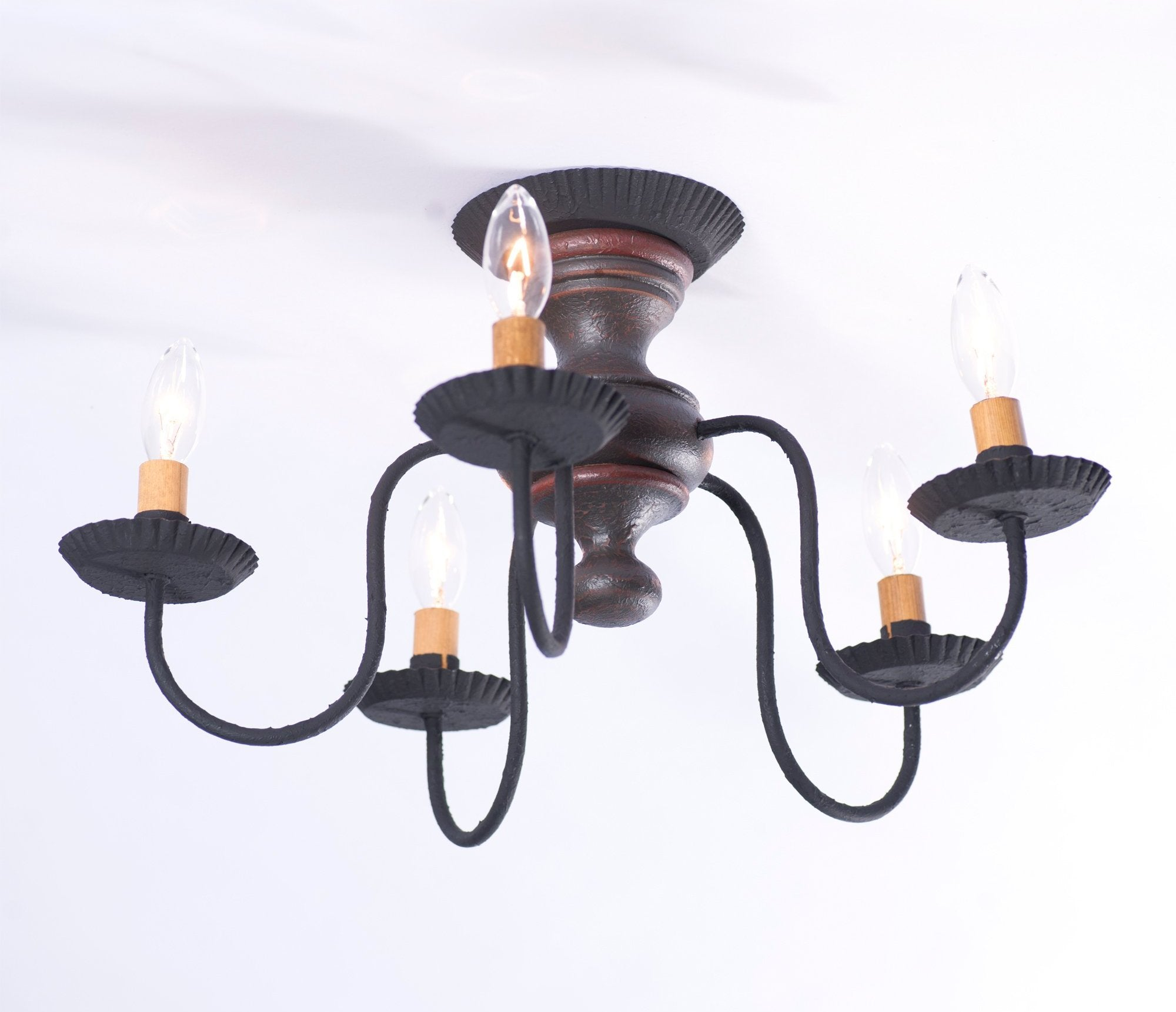 Thorndale wood Ceiling Light in Pearwood