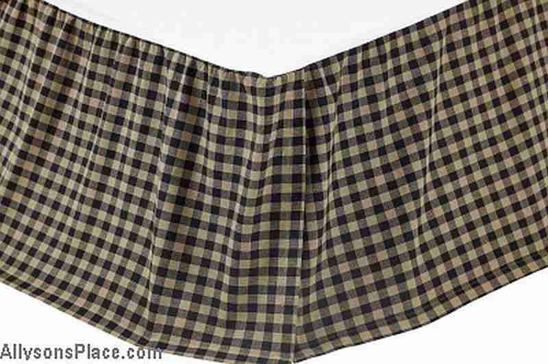Black Check King Bed Skirt Allysons Place