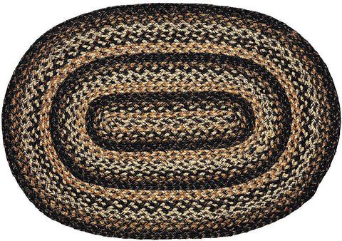 black forest braided jute rug oval