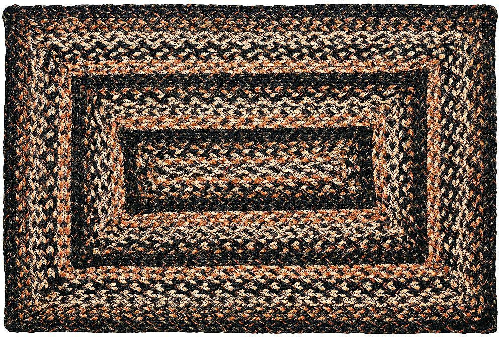 Black Forest Braided Jute Rug Rectangle 8 X 10 Ft Allysons Place