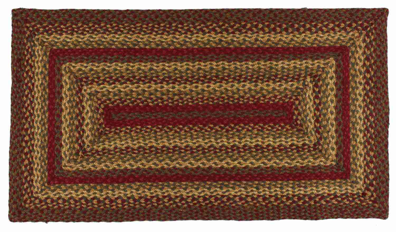 Cinnamon Braided Jute Rug Rectangle 6 X 9 Ft Allysons Place
