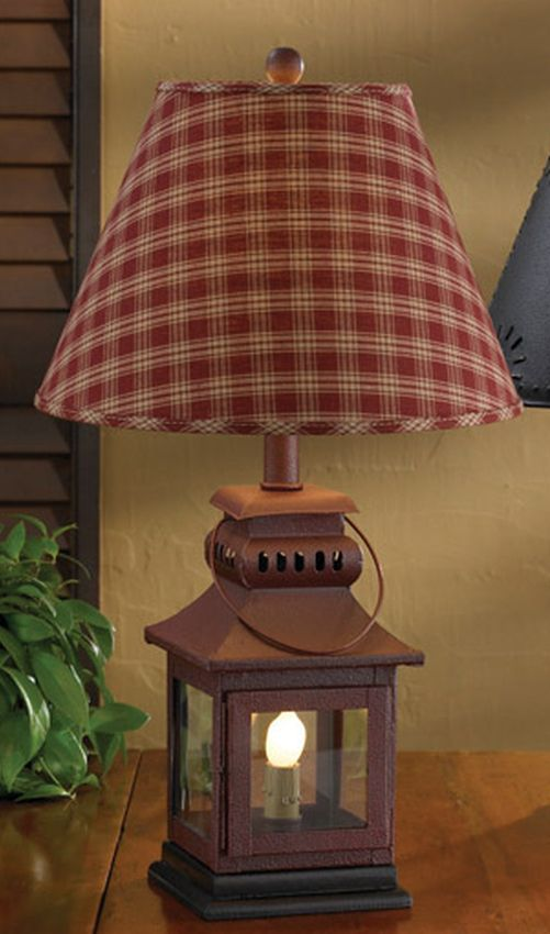 Iron lantern lamp red