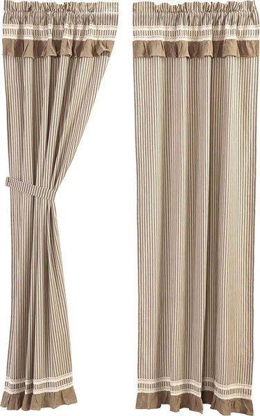 Kendra Stripe Black Curtain Panel 84 In Allysons Place