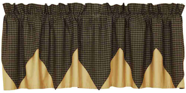 Kettle Grove Window Valance Plaid Layered Allysons Place