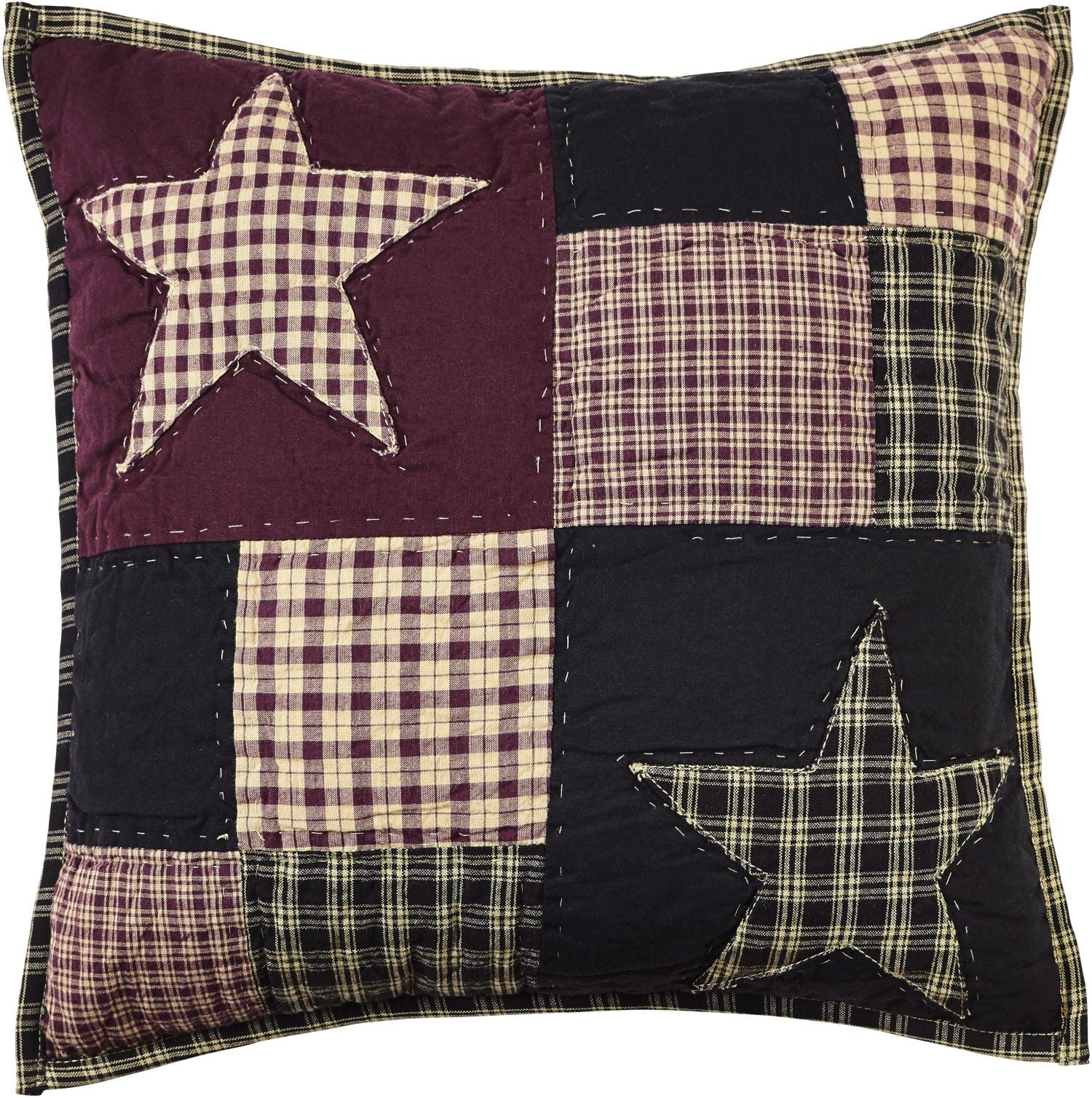 Plum Creek Quilted Star Pillow Cover Allysons Place