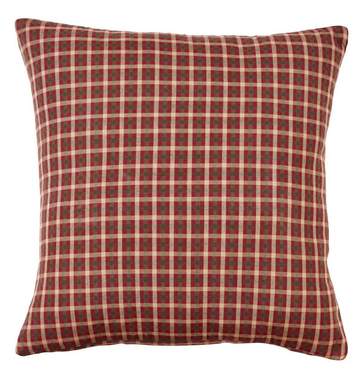 Plymouth Red Plaid Pillow Cover - Allysons Place