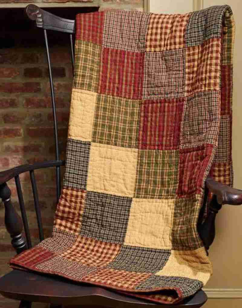 Rebecca S Patchwork Quilted Throw Allysons Place