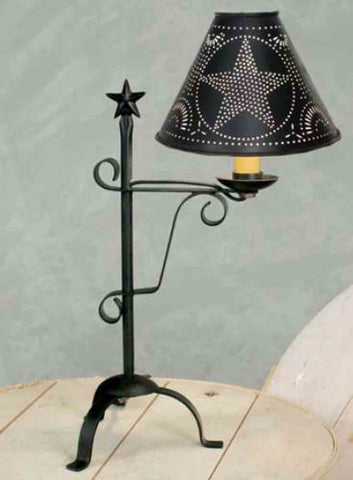 Star desk lamp black