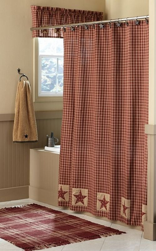 Sturbridge Patch Wine Shower Curtain