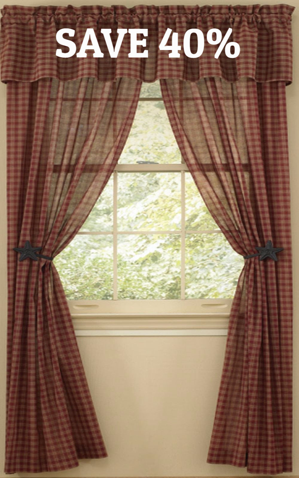 Sturbridge Wine Sheer Curtain Panels 63 In