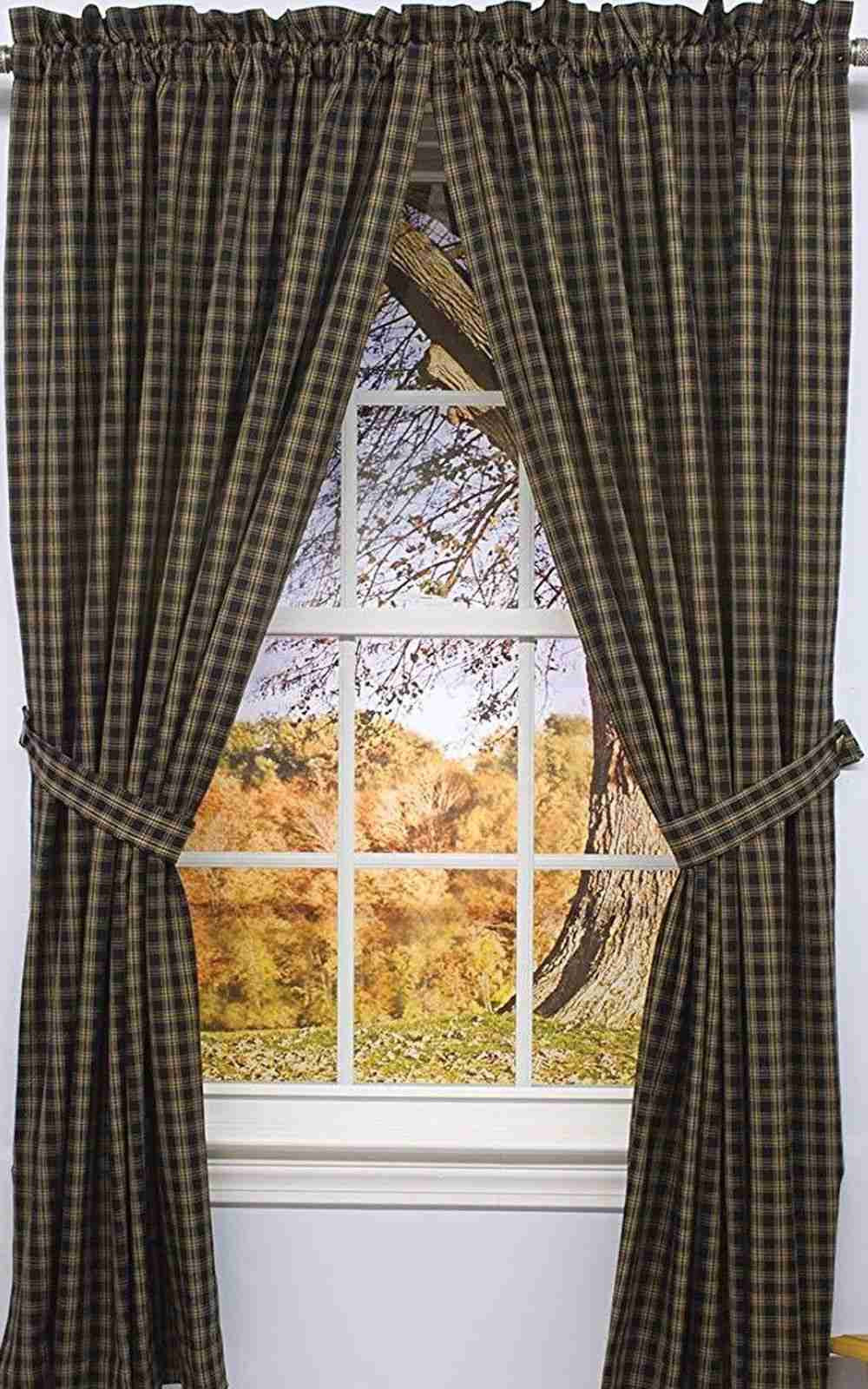 Sturbridge Black Curtain Panels 84 In Lined Allysons Place