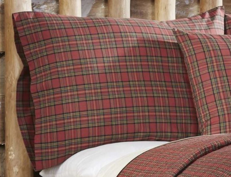 Remarkable Tartan Red Plaid Pillowcase Set 2 Customarchery Wood Chair Design Ideas Customarcherynet