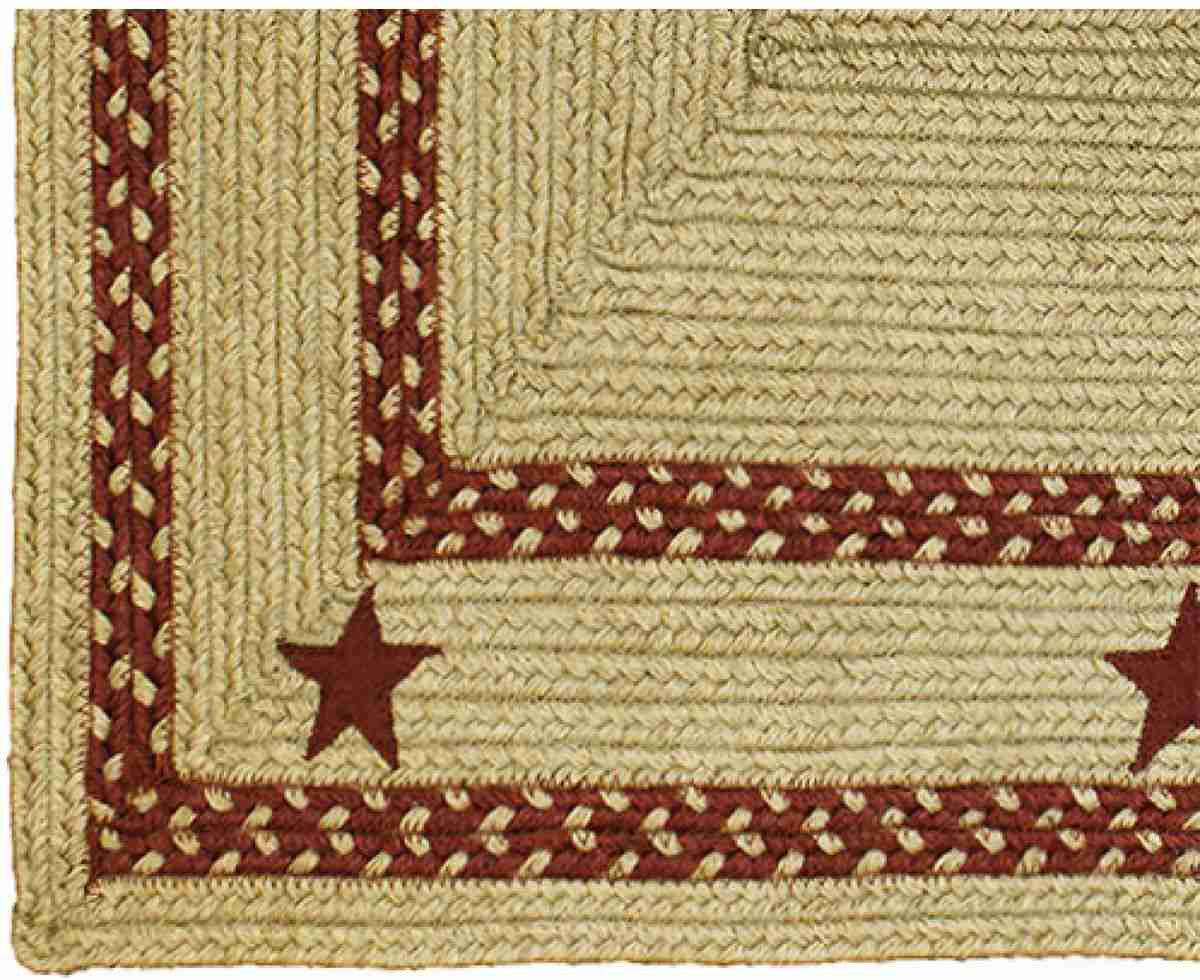 texas red braided jute rug rectangle 8 x 10 ft. - allysons place
