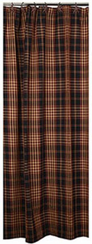 Village Plaid Shower Curtain   Allysons Place