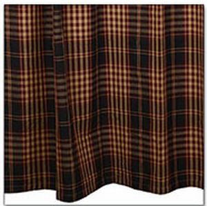 village plaid shower curtain