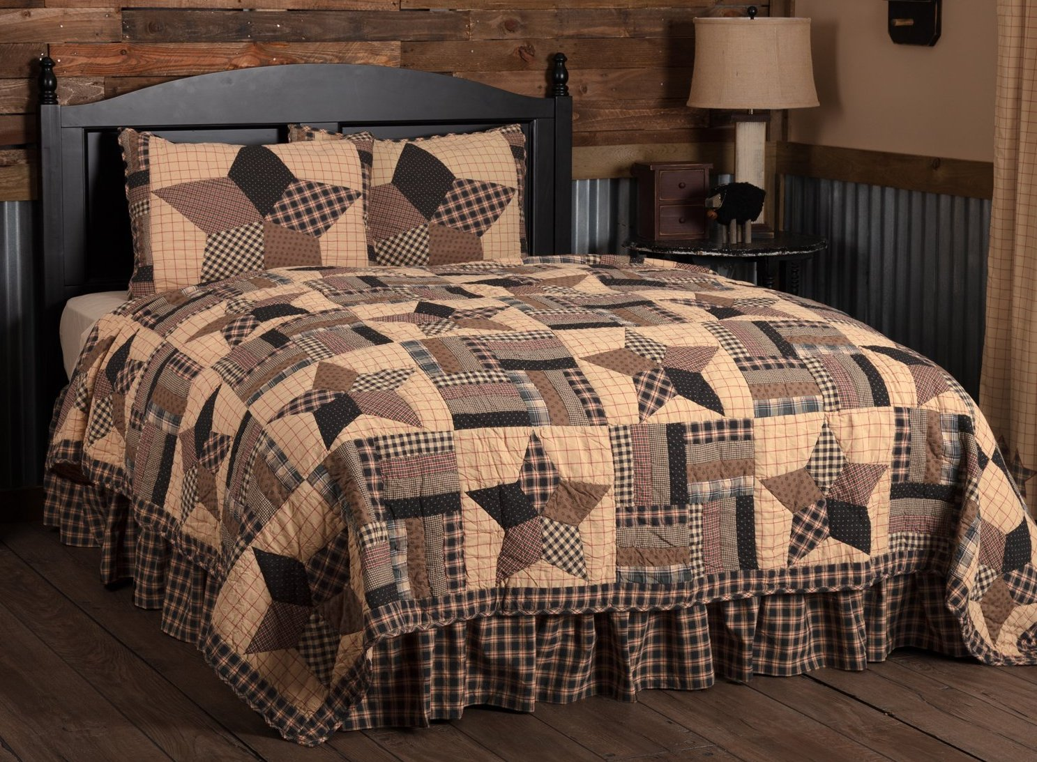 Bingham Star California King Quilt Set 1 Quilt And 2 Shams Allysons Place