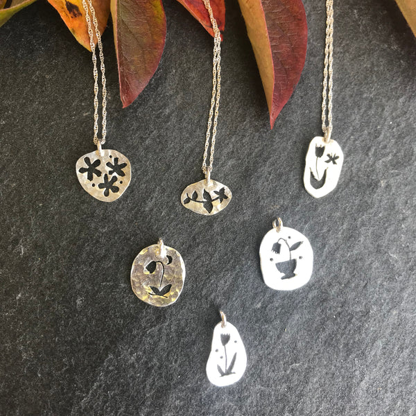 Botanical necklaces