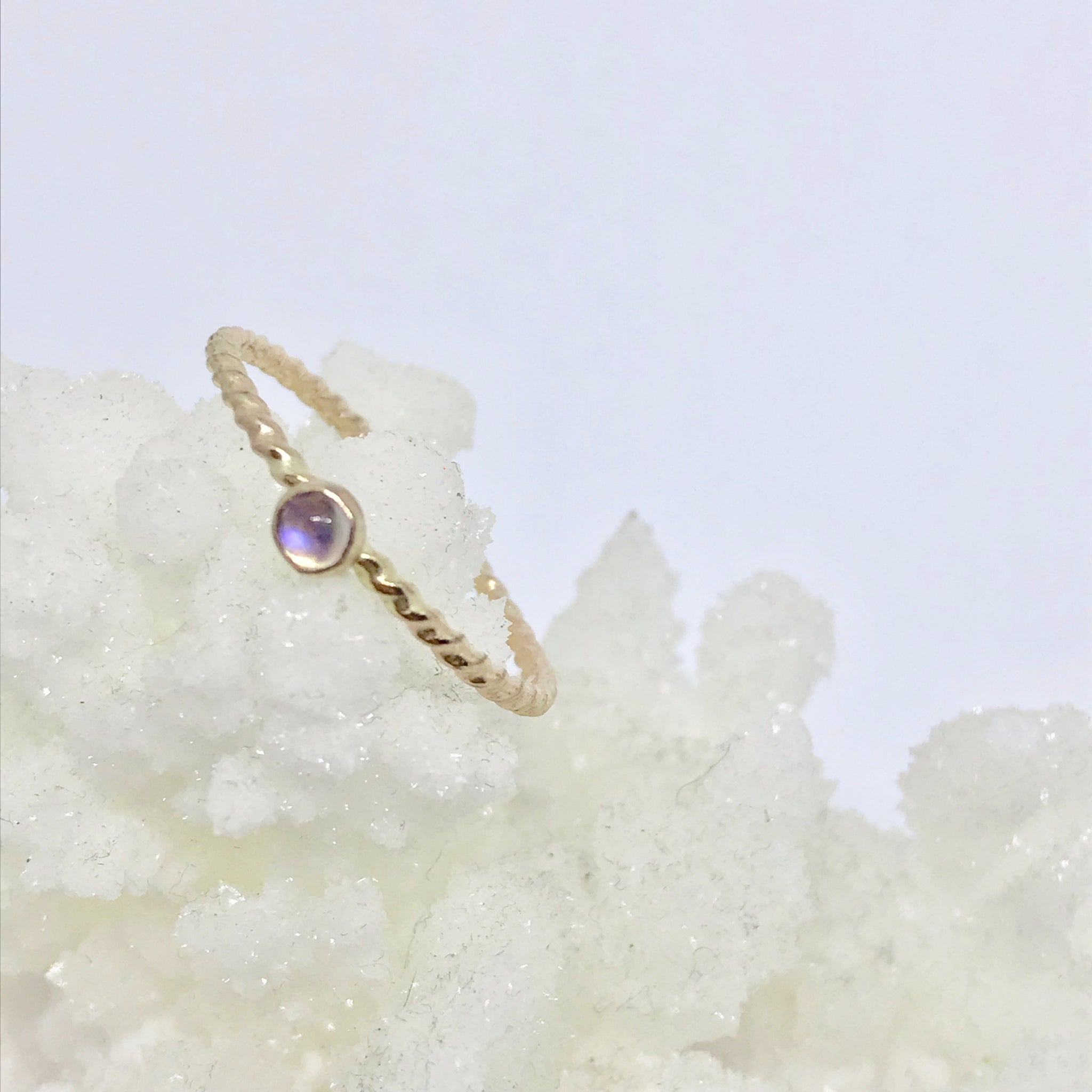 Gold Filled Moonstone Gemstone Ring