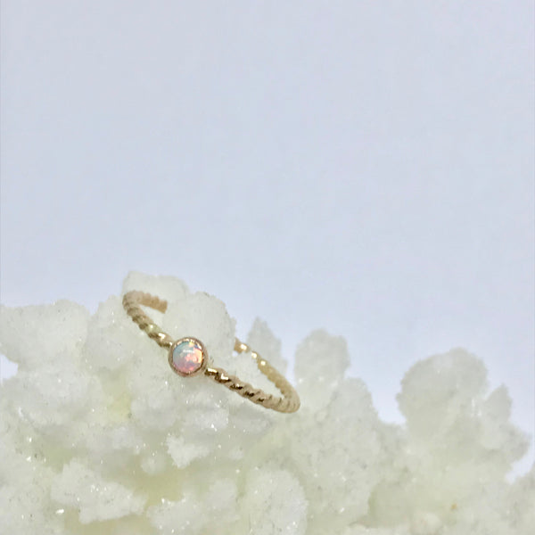 Gold Filled Faux Opal Gemstone Ring