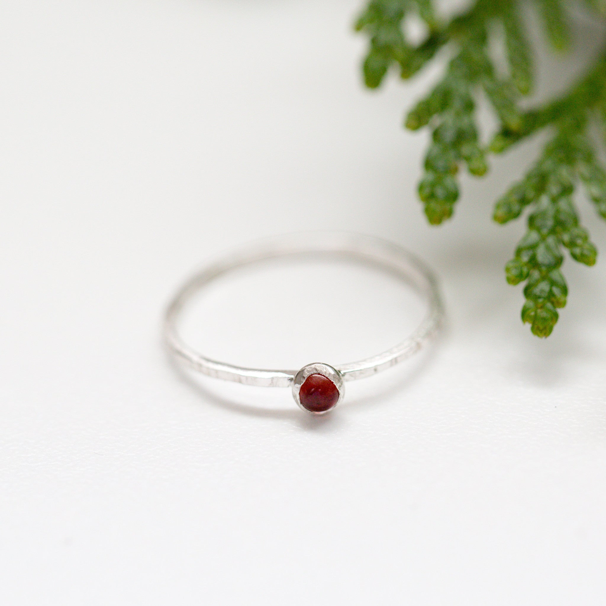 Garnet Sterling Silver Gemstone Ring