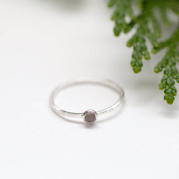 Moonstone Sterling Silver Gemstone Ring