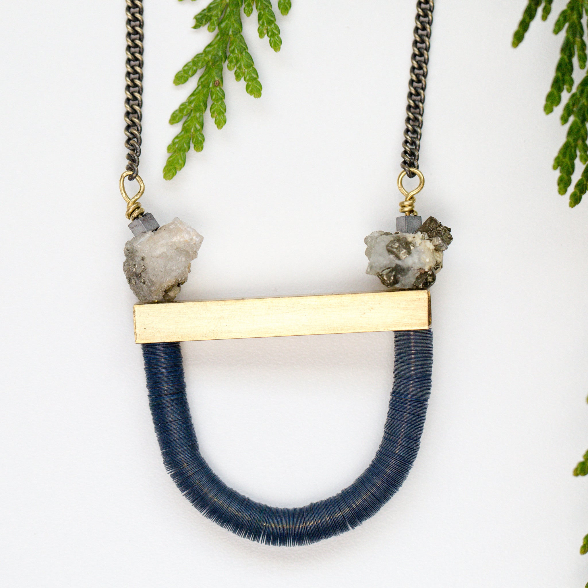 Sequin Stirrup Necklace