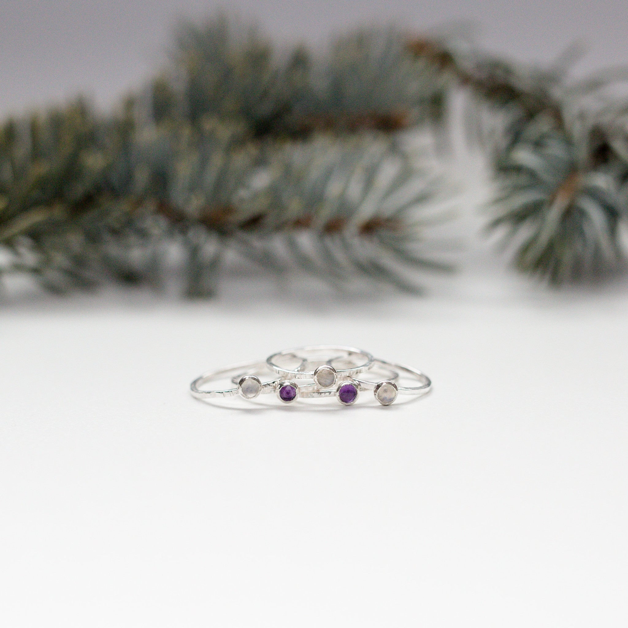 Amethyst Sterling Silver Gemstone Ring