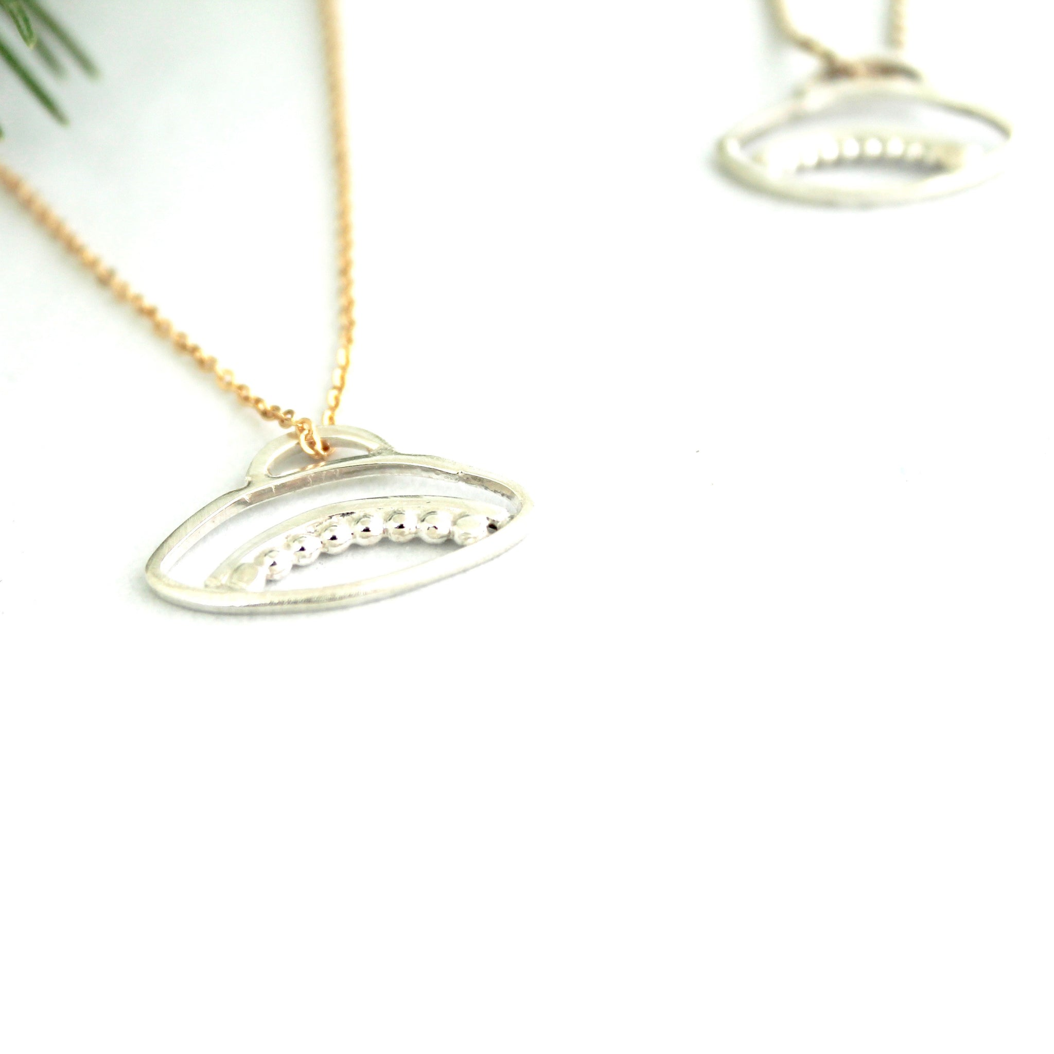 Sterling Silver UFO Necklace