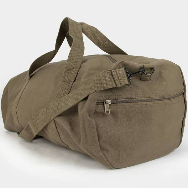 Grey Canvas Duffel