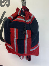 Cotton color block book bag