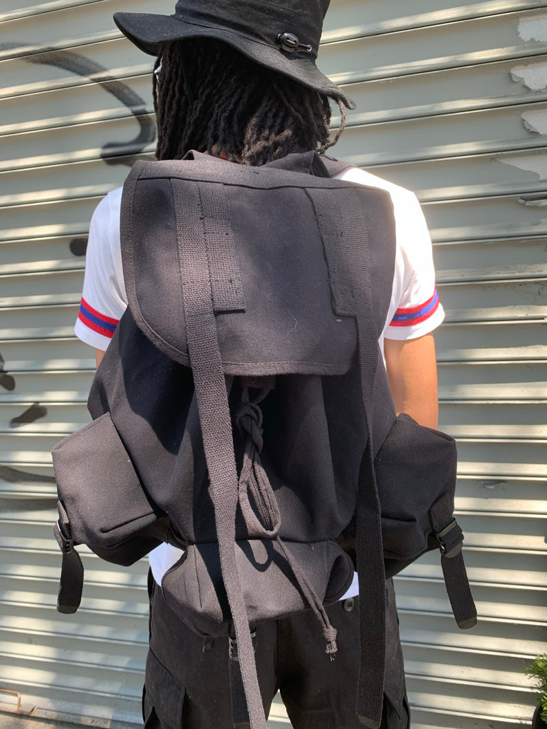 Cotton canvas Oversized Bookbag