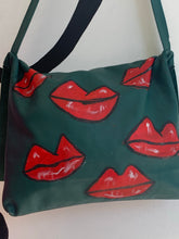 Krow leather Lips cross body bag