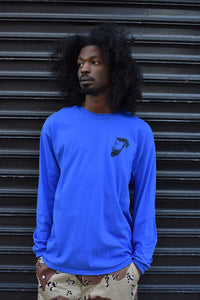 MILES Bearded Fella Long Sleeve Tee In Blue