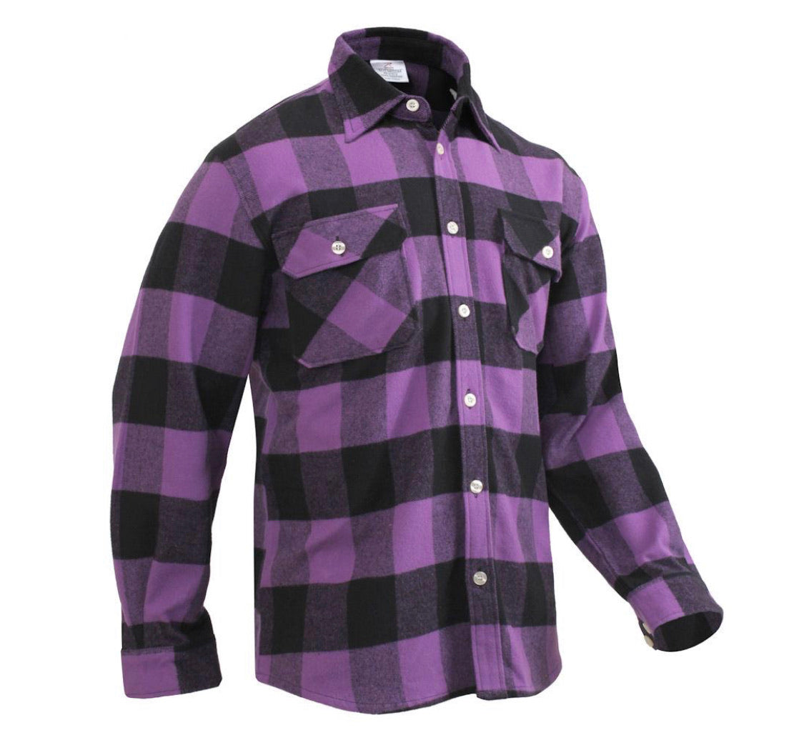 Purple Buffalo plaid Flannel