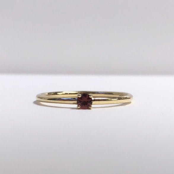 spessartine garnet in gold
