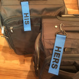 Big Tags -HERS & HIS Luggage Tag Set