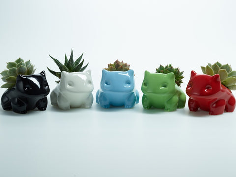 Ceramic Bulbasaur Planter / Flower Pot