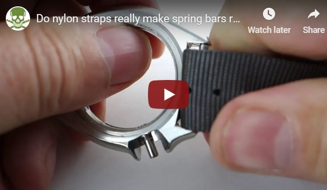 Do nylon straps make spring bars release????