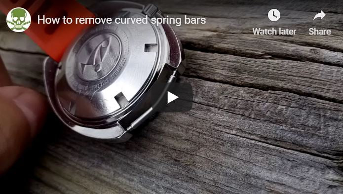 How to remove curve spring bars.