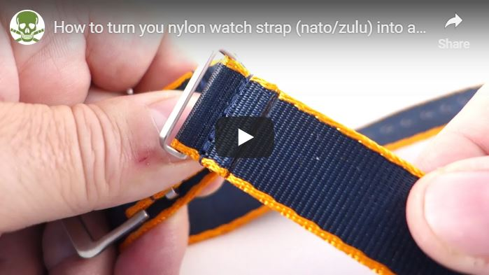 How to turn a nylon strap into a one piece version!