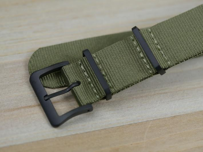 Nylon Watch Strap with Black Hardware (BLACKOut)