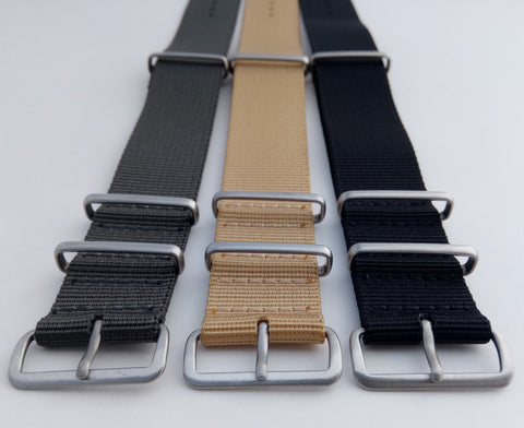 Three nato watch straps