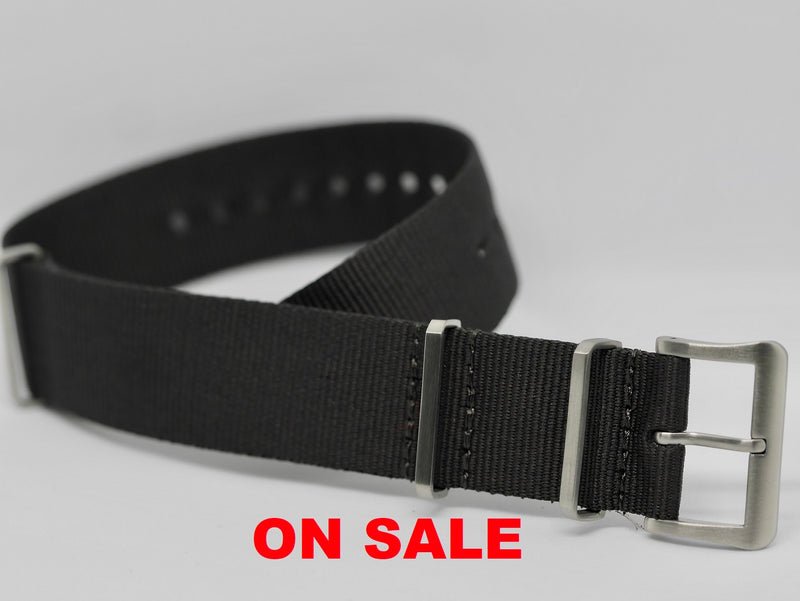 20mm and 22mm Charcoal Nylon ON SALE!